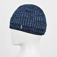 Мужская шапка Nord на флисе 161084 Синий+дж