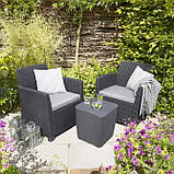 Набор садовой мебели Corona Balcony Set из искусственного ротанга ( Allibert by Keter ), фото 3