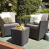 Набор садовой мебели Corona Balcony Set из искусственного ротанга ( Allibert by Keter ), фото 5