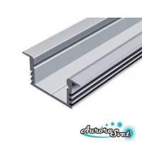 Профиль алюминиевый врезной неанодированный. Алюминиевый профиль.