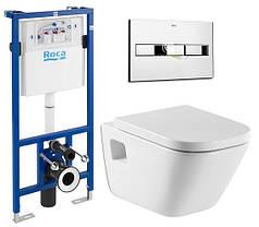 Инсталляционная система Roca унитаз GAP +кнопка+крышка A34H47C000+A890090020+A890096001