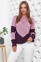 Свитер женский, цвет: сирень-фиолетовый, размер: 46-52