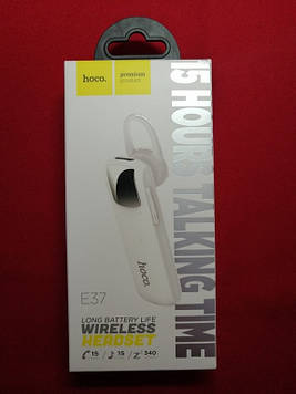 Bluetooth-гарнітура hoco. Е37 (Білий)
