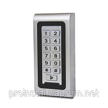 Металическая кодовая клавиатура со встроенным считывателем Proximity карт (120 х 60 х 20)