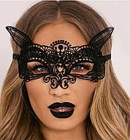 Маска ажурная карнавальная на лицо кружевная маска женская