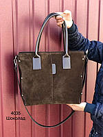 Женская сумка натуральная замша и кожзам в 6 цветах, фото 1