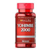 Йохимбин, энергия Puritan s Pride Yohimbe 2000 mg 50 капс