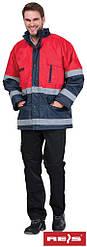 Куртка сигнальна утеплена робоча Reis Польща (робочий одяг сигнальна) BLUE-RED GC