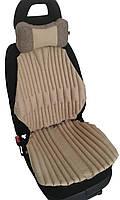 Ортопедические био подушки EKKOSEAT на автомобильное кресло. Комплект. Бежевая.