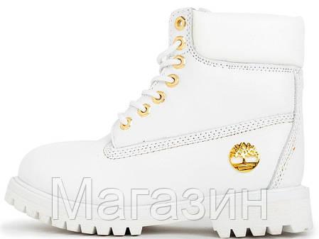 Женские зимние ботинки Timberland 6 Inch Premium Winter White зима Тимберленд С МЕХОМ белые, фото 2