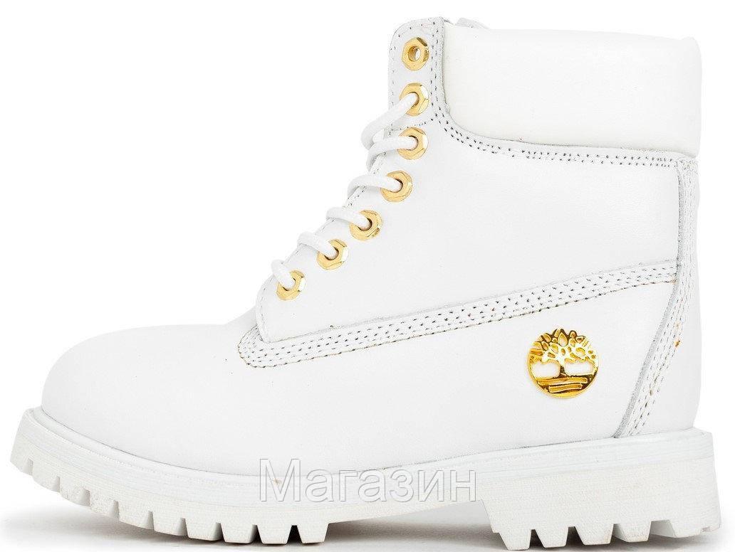 Женские зимние ботинки Timberland 6 Inch Premium Winter White зима Тимберленд С МЕХОМ белые