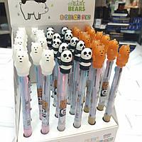 Ручка шариковая 3-ех.цветная  Мишки