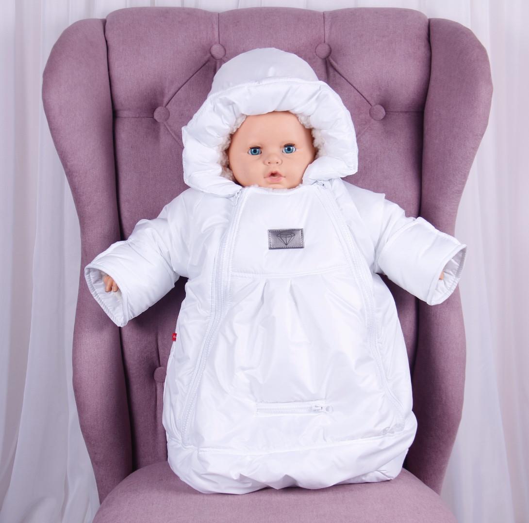 Детский мешок для новорожденных Sky белый