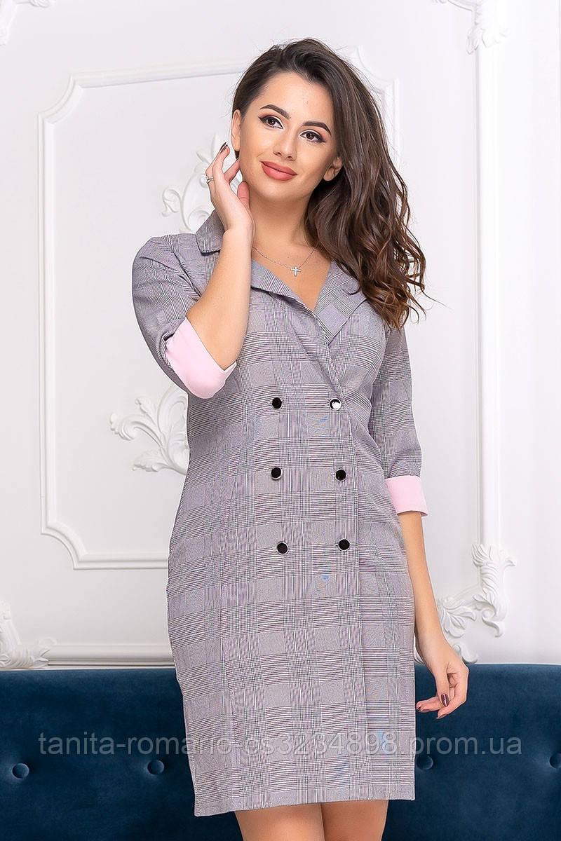 Повседневное платье 8156e Розовый