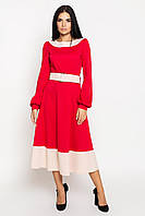 Платье женское, цвет: красный беж, размер: 42, 44, 46, 48