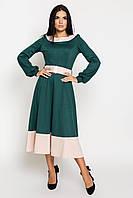Платье женское, цвет: бутылка беж, размер: 42, 44, 46, 48