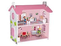 Деревянный кукольный домик с аксессуарами Playtive Junior (розовый)