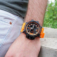 Часы наручные Casio GShock GPW BlackOrange Wristband копия