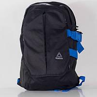 Рюкзак спортивный Reebok Motion Laptop BK1988 (черный, полиэстер, отсек под ноутбук, под обувь, логотип рибок)
