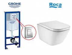 Унитаз+Инсталляция Grohe Rapid SL (38772001)+Roca Gap Clean Rim A34H47C000