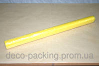 Желтая жатая органза для упаковки цветов