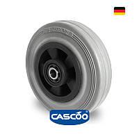Колесо со втулкой и метизом с роликовым подшипником 80 мм, полипропилен/серая резина (Германия)