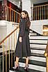 Платье женское с рюшиками в горох Черный, фото 2