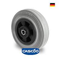 Колесо со втулкой и метизом с роликовым подшипником 100 мм, полипропилен/серая резина (Германия)
