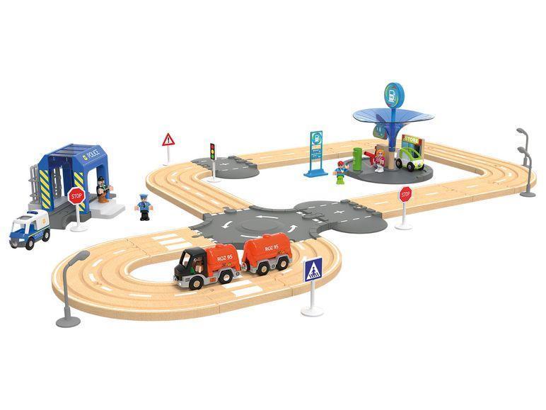 Дорожній набір для дерев'яної залізниці 3,15 м 40 елементів Playtive Junior
