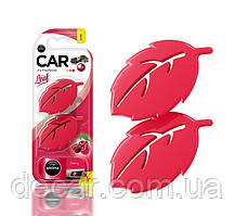 """Освеж.полимер на обдув  2*4.5gr - """"Aroma"""" - Leaf mini - Cherry (Вишня) (10шт/уп)"""
