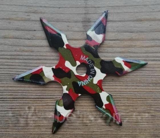 Нож - звезда камуфляж метательный набор 3 шт + чехол, (шестиконечная) иглообразная пластина для метания