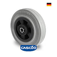 Колесо со втулкой и метизом с роликовым подшипником 125 мм, полипропилен/серая резина (Германия)