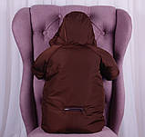 Детский мешок для новорожденных Sky коричневый, фото 4