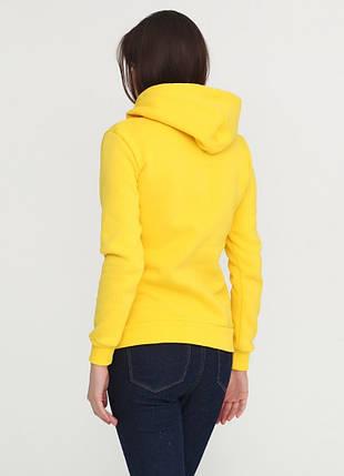Худи женский с капюшоном, цвет желтый, фото 2