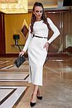 Платье облегающее полуприталенное (4 цвета, р.S,M,L,XL), фото 6