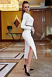 Платье облегающее полуприталенное (4 цвета, р.S,M,L,XL), фото 8
