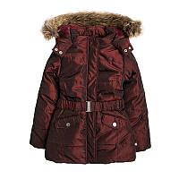 Детская зимняя куртка для девочки 6-7 лет, рост 122 см., Cool Clab