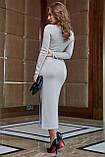 Платье облегающее полуприталенное (4 цвета, р.S,M,L,XL), фото 10