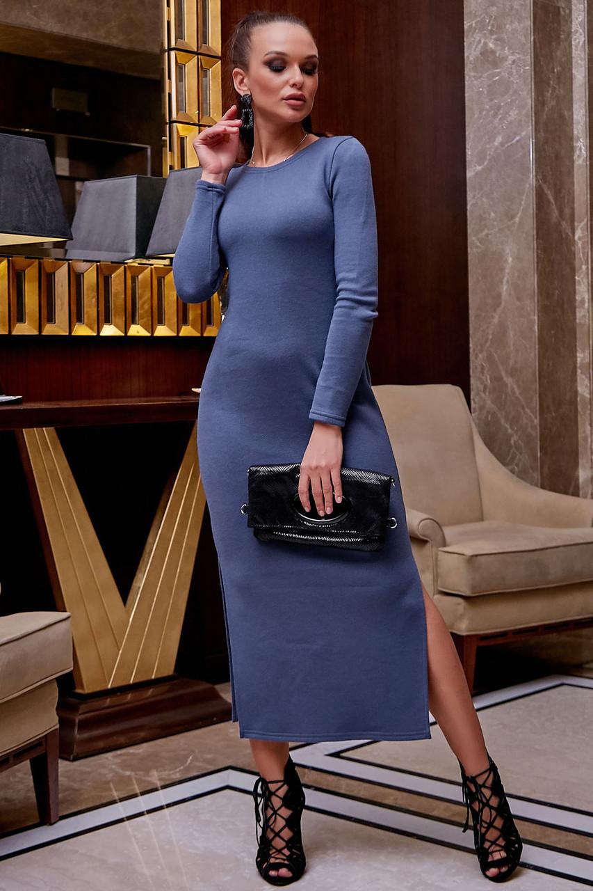 Платье облегающее полуприталенное (4 цвета, р.S,M,L,XL)