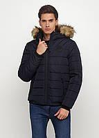Мужская зимняя куртка Man's Wear (50) темно-синяя KZ-104b