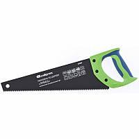 """Ножовка по дереву """"Зубец"""", 350 мм, 7-8 TPI, зуб 2D, калёный зуб, защитное покрытие, двухкомпонентная рукоятка СИБРТЕХ (23809)"""