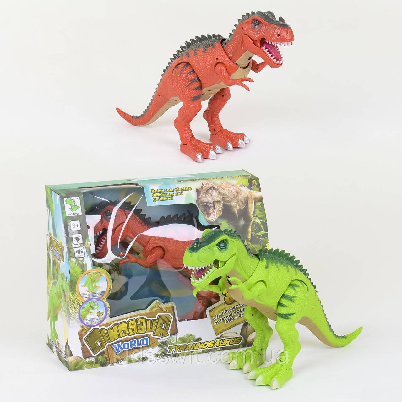 Динозавр 2 вида, с проектором, ходит, светятся глаза, звук
