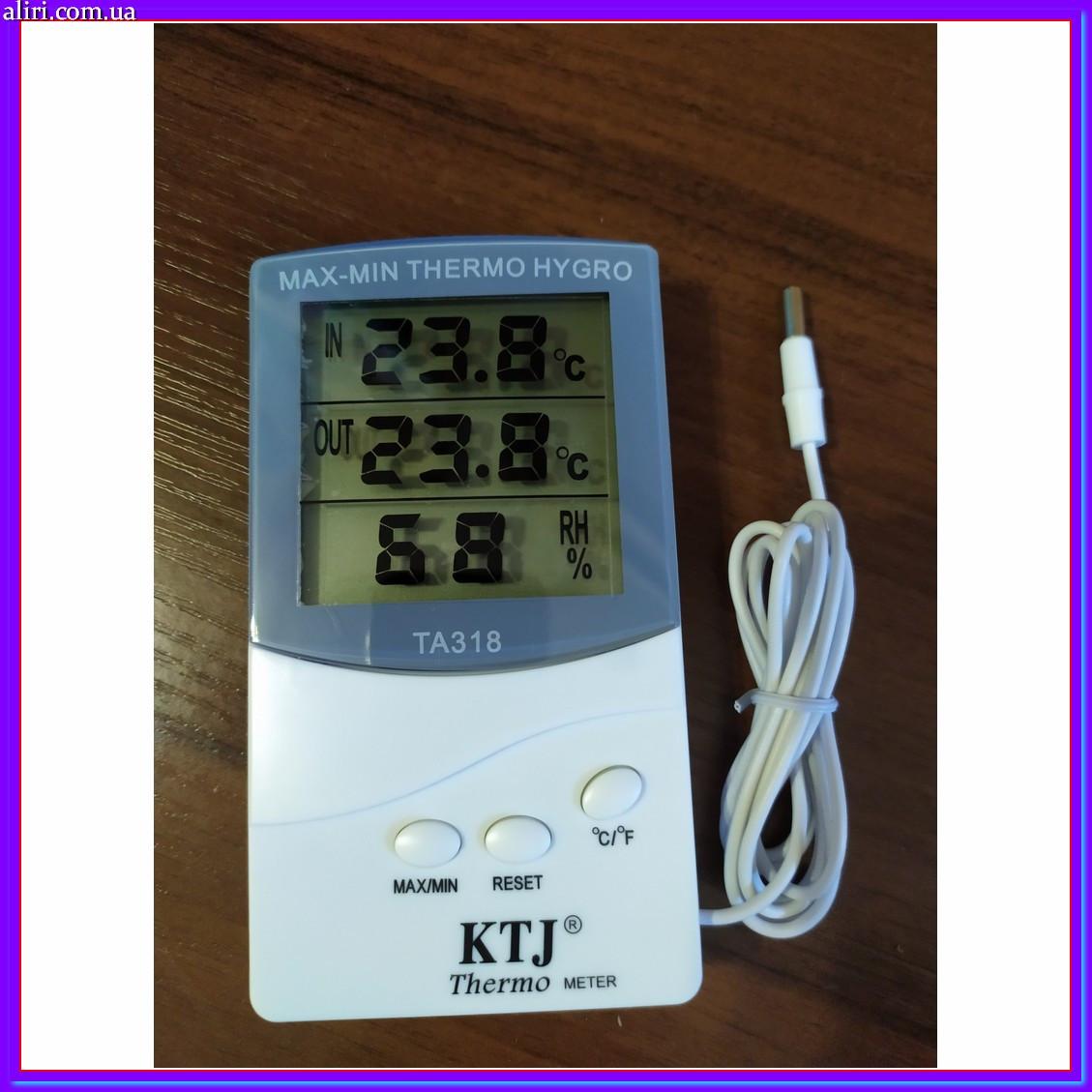 Часы термометр метеостанция + выносной датчик TA 318