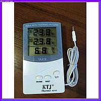 Часы термометр метеостанция + выносной датчик TA 318, фото 1