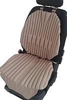Ортопедическиебио подушки-накидки EKKOSEAT на автомобильное кресло. Бежевые.