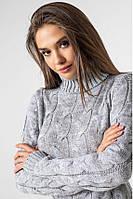 """Вязаное женское платье """"Сабрина"""", размер 42–48"""