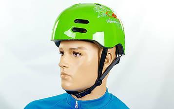 Шлем для ВМХ, Skating, Freestyle и экстремального спорта (форма Котелок, зеленый)