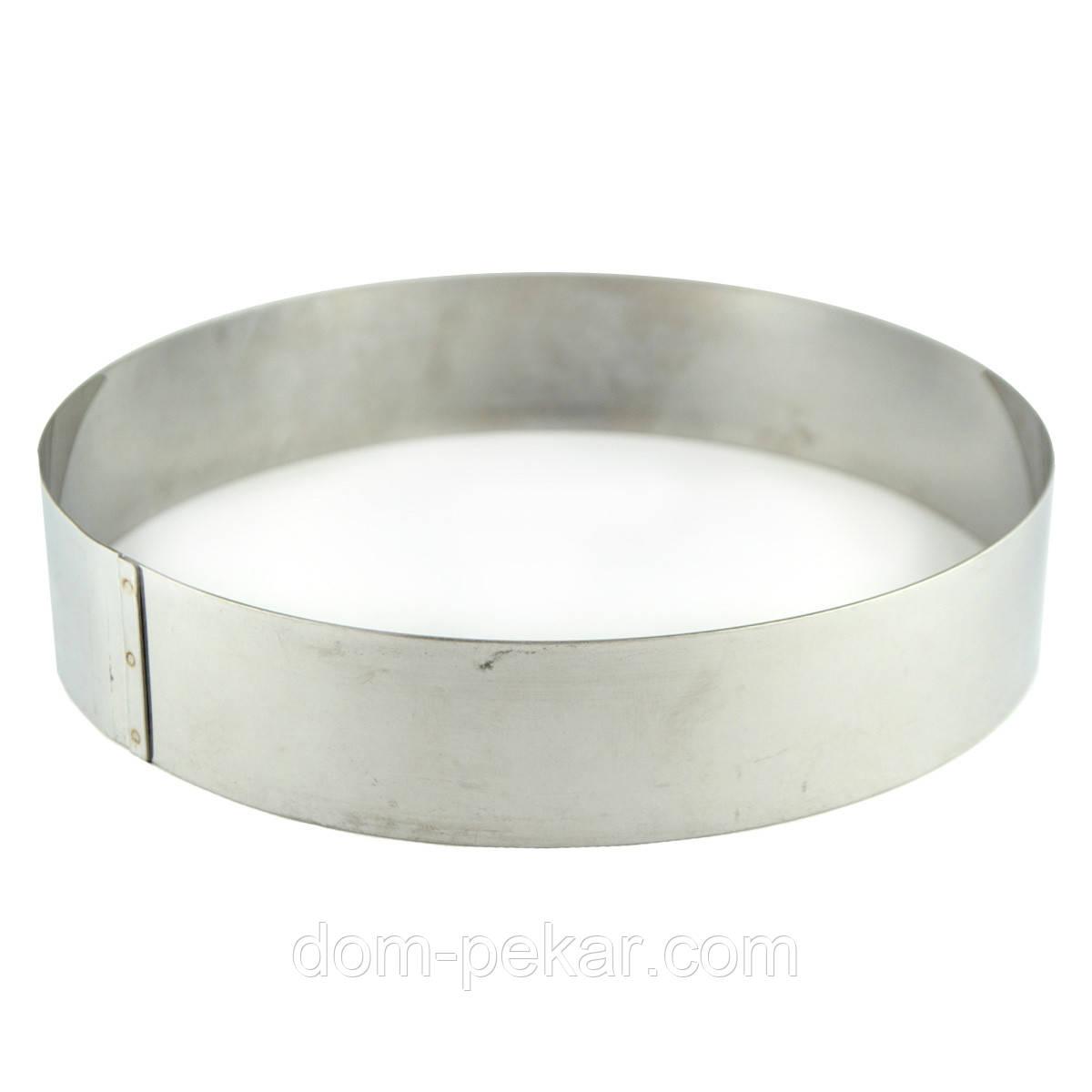 Кольцо H40 D200 кондитерское толщина 0,8 мм сталь AISI 304