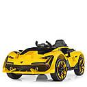 Дитячий електромобіль M 4115 EBLR-4, Lamborghini Aventador, EVA гума, шкіряне сидіння, синій, фото 2