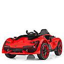 Дитячий електромобіль M 4115 EBLR-4, Lamborghini Aventador, EVA гума, шкіряне сидіння, синій, фото 3